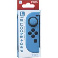 Funda silicona + Grip izquierdo azul Nintendo Switch