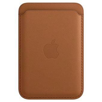 Cartera de piel con MagSafe Marrón para iPhone 12