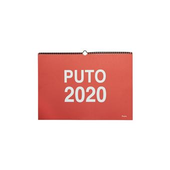 Calendario de pared Fisura Rojo - Puto 2020