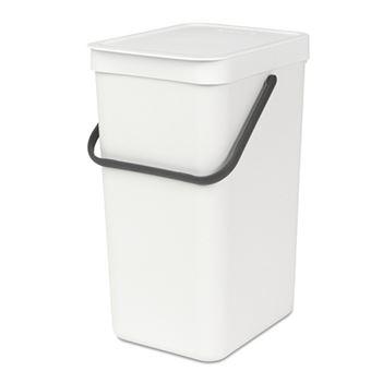 Cubo de basura Brabantia Sort & Go 16 L Blanco