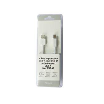 Cable Temium USB A - USB B Blanco 1,8 m