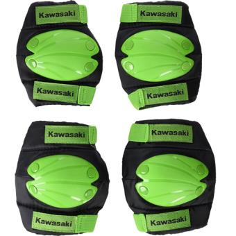 Rodilleras y coderas infantiles Kawasaki Talla M Verde