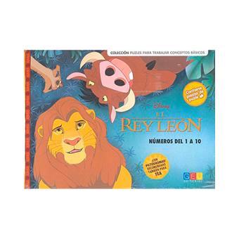 El Rey León. Puzle números del 1 al 10
