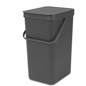 Cubo de basura Brabantia Sort & Go 16 L Negro