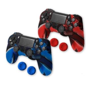 Pack Funda silicona Blackfire Gamer Kit + Thumb Grips PS4