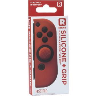 Funda silicona + Grip derecho rojo  Nintendo Switch