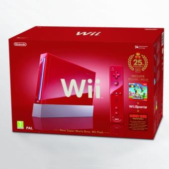 Pack Especial Nintendo Wii Roja Super Mario 25 Aniversario
