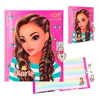 Diario Top Model con llave y candado Mi Diario Talita Rosa
