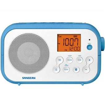 Radio Sangean PR-D12 FM Blanco/Azul