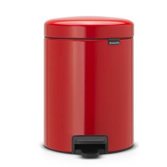 Cubo de basura con pedal Brabantia NewIcon 5 L Rojo