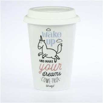 """Taza take away """"Wake up and make your dreams come true"""""""