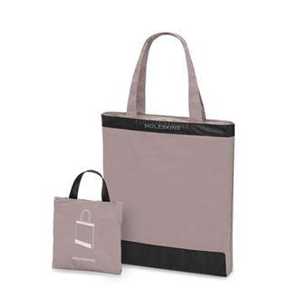 Bolsa Tote de viaje plegable Moleskine rosa crema