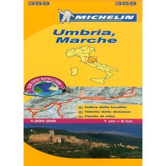 Michelin. Mapa Local: Umbria, Marche