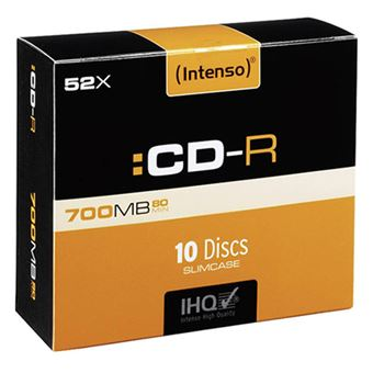 Pack Intenso 10 CD-R 700 MB
