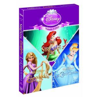 Pack Princesas: La sirenita + Enredados + La cenicienta - DVD