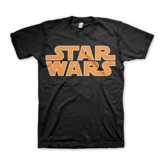 Camiseta Star Wars Logo Clásico Negro Talla S