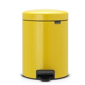 Cubo de basura con pedal Brabantia NewIcon 5 L Amarillo