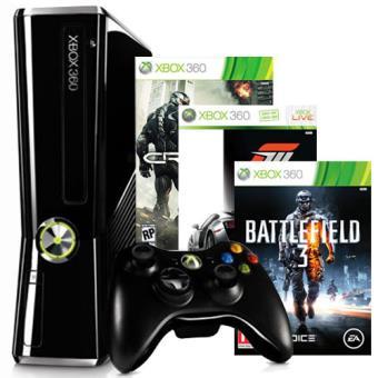X360 250Gb + Battlefield 3 + Forza 3 + Crysis 2