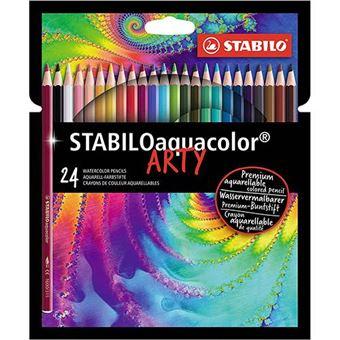 Lápices de color acurelables Stabilo Aquacolor Arty estuche con 24 colores