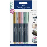 Rotuladores Faber-Castell Metallics Marker 6 colores