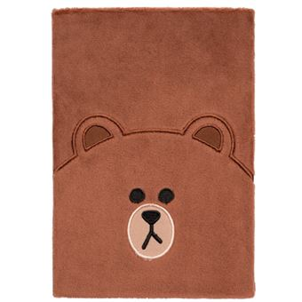 Cuaderno Felpa A5 Line Friends Brown