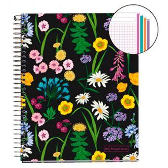 Cuaderno A5 Miquelrius Flores silvestres cuadrícula 5 mm 140 h
