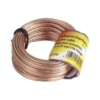 Hama cable para altavoz OFC 2x 0.75mm 10m