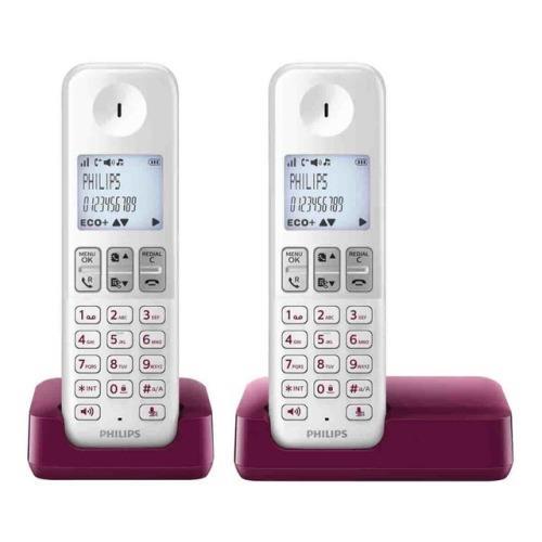 Teléfono inalámbrico Philips D2302WP Dect Dúo