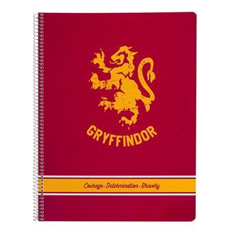 Cuaderno A4 Harry Potter Gryffindor microperforado pautado con tapa de polipropileno