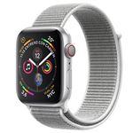 Apple Watch S4 40mm LTE Caja de aluminio en plata y correa Loop deportiva en color nácar