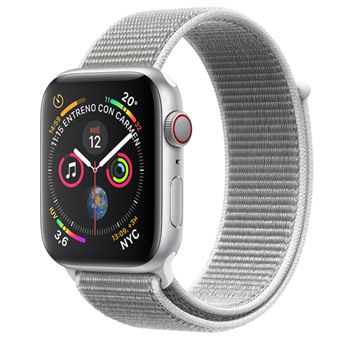 Apple Watch S4 40mm LTE Caja de aluminio en plata y correa Loop deportiva en color nácar