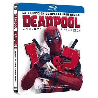 Pack Deadpool 1-2 - Ed Black Metal - Blu-Ray
