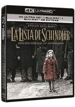 La Lista de Schindler  Ed especial 25 aniversario - UHD + Blu-Ray + Blu-Ray Extras