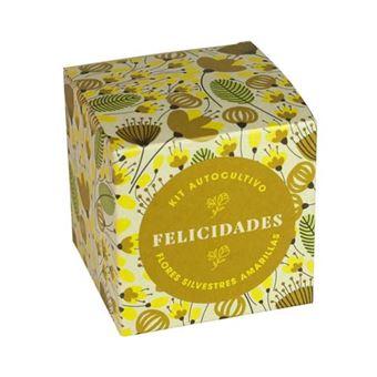 Kit de autocultivo Resetea Díselo con flores - Felicidades