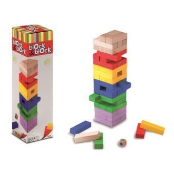Torre de madera de colores Block & Block