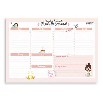 Calendario Semanal.Planificador Semanal Universitaria Estresada A4