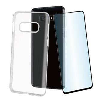 Pack Muvit Funda Cristal Soft Transparente + Protector de pantalla Cristal templado para Samsung Galaxy S10e