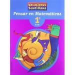 Vacaciónes Santillana, pensar en matemáticas, 1 ESO