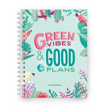 Agenda Miss Borderlike 2020 Semana Vista - Green Vibes & Good Plans