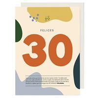 UO Postal de cumpleaños felices 30