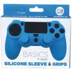 Funda Silicona + Grips  DualShock azul PS4