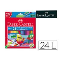 Lápices de colores Faber-Castell acuarelables c 24