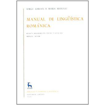 Manual de lingüística románica - 2 vols.