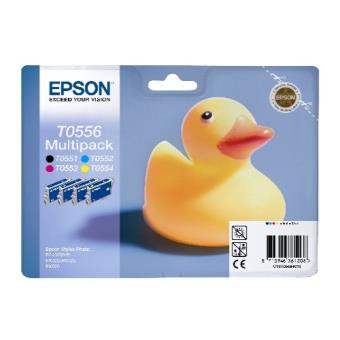 Epson T0556 Pack 4 tintas negro + color