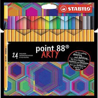 Rotulador punta fina Stabilo Point 88 Arty estuche con 24 colores