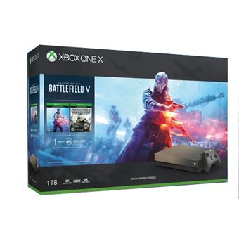 Xbox One X de 1 TB + Gold Rush Special Edition Battlefield V