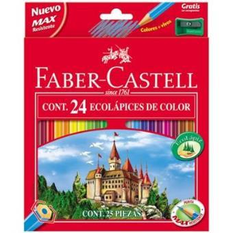 Faber-24 ecolapices colores