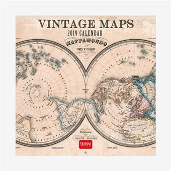 Calendario de pared 2019 Vintage Maps