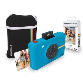 Cámara Instantánea Polaroid Snap Azul Estuche + Papel (Producto Reacondicionado)