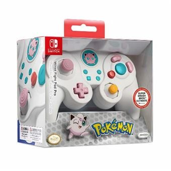 PDP Mando Pro Fight Pad con Cable Jigglypuff Nintendo Switch